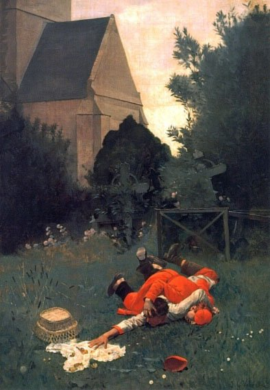 Scramble for the Lunch | Jean Georges Vibert | Oil Painting