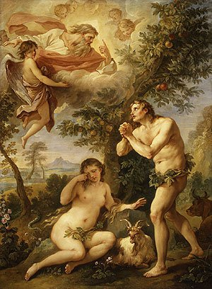 The Expulsion from Paradise 1740 | Charles Joseph Natoire | Oil Painting