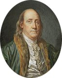 Benjamin Franklinafter a Painting by Greuze of 1777 1777 | Charles Paul Jeee de Bre | Oil Painting