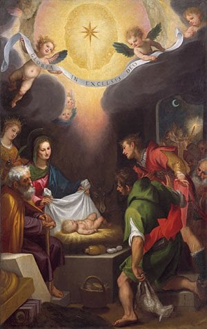 The Adoration of the Shepherds with Saint Catherine of Alexandria 1599 | Cigoli | Oil Painting