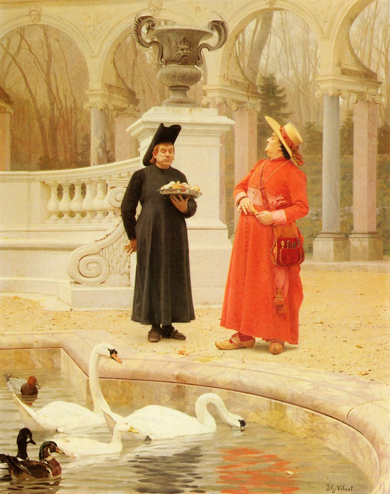 A Plate Of Cakes | Jean Georges Vibert | Oil Painting