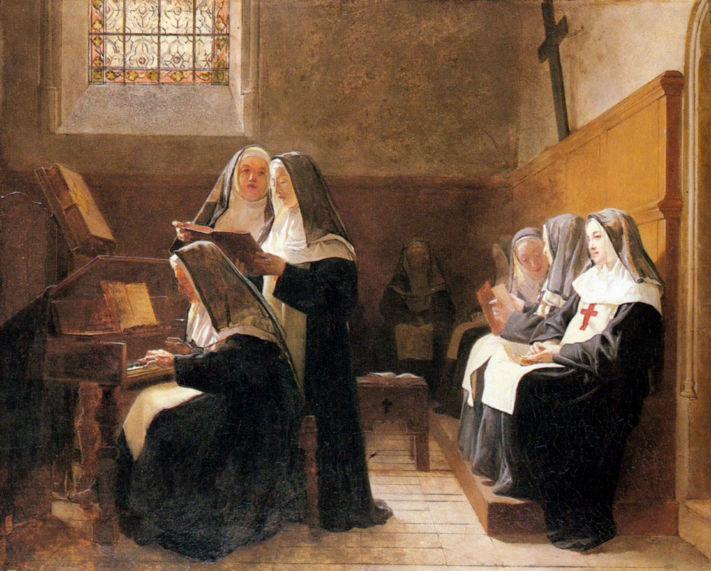 The Convent Choir | Jean Georges Vibert | Oil Painting