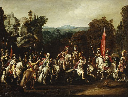 Departure of the Amazons 1620s | Claude Deruet | Oil Painting