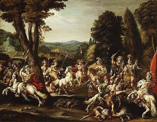 Triumph of the Amazons 1620s | Claude Deruet | Oil Painting