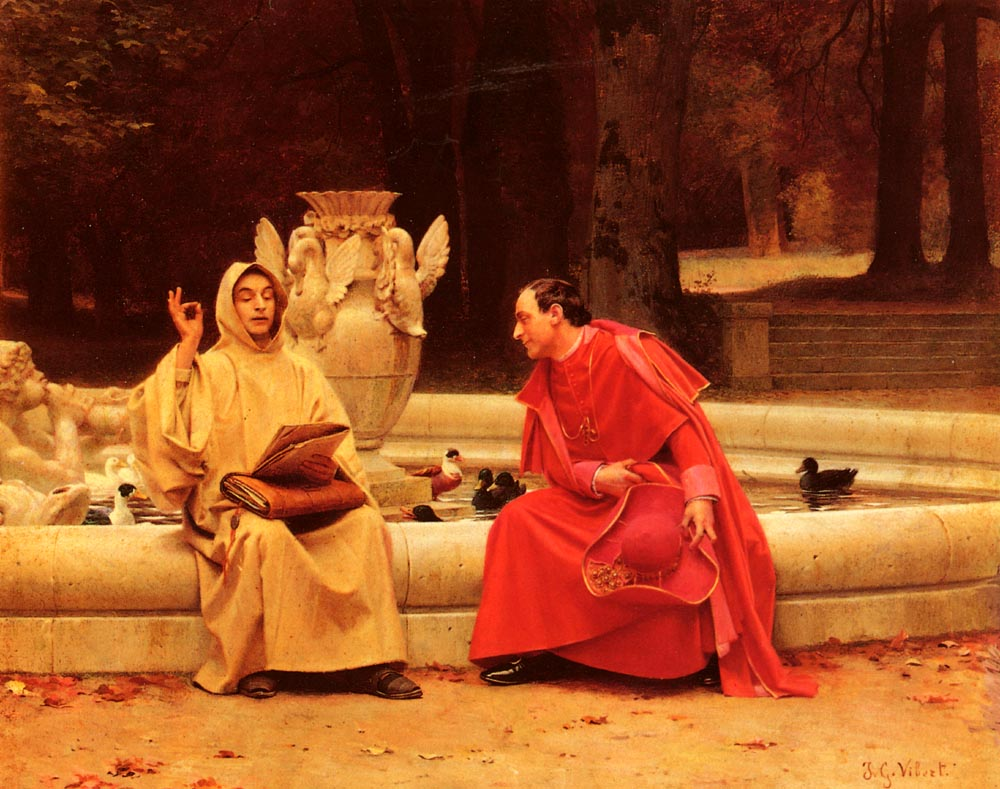 A Fine Point | Jean Georges Vibert | Oil Painting
