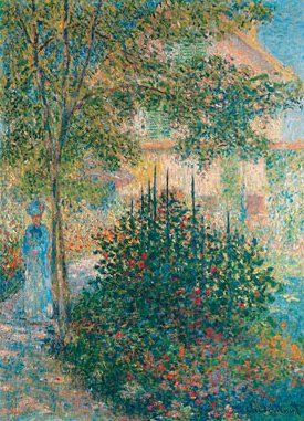 Camille Monet in the Garden at Argenteuil 1876 | Claude Monet | Oil Painting