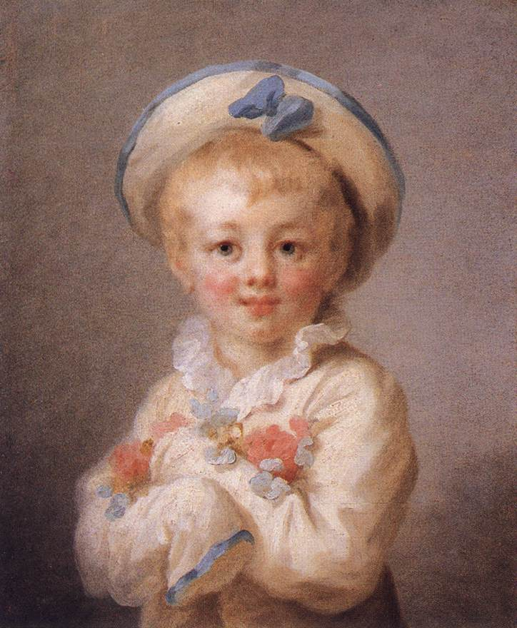 A Boy As Pierrot 1776-80 | Jean Honore Fragonard | Oil Painting