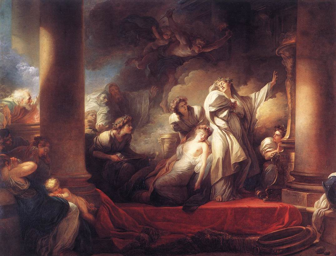 Coresus Sacrificing Himselt Tosave Callirhoe 1765 | Jean Honore Fragonard | Oil Painting