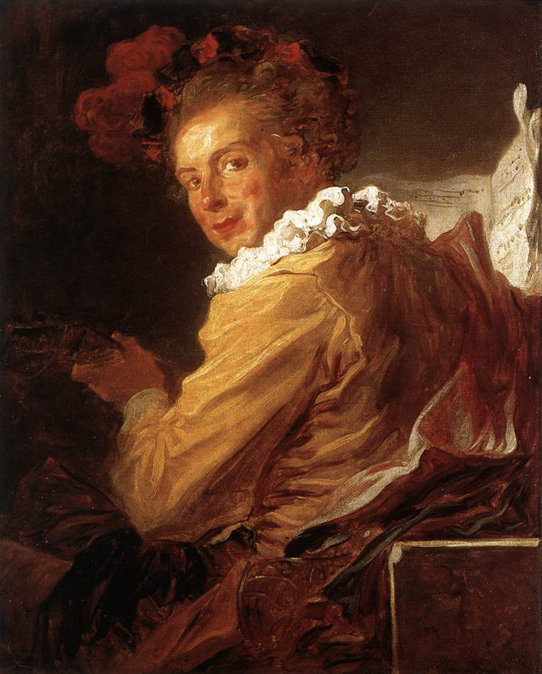 Man Playing An Instrument (The Music) 1769 | Jean Honore Fragonard | Oil Painting