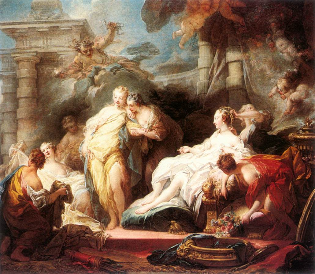 Psyche Showing Her Sisters Her Gifts From Cupid 1753 | Jean Honore Fragonard | Oil Painting