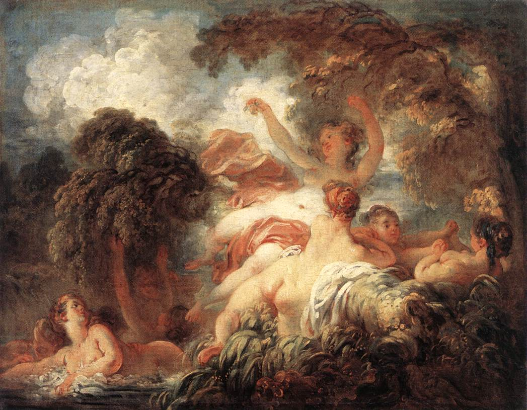 The Bathers 1772-75 | Jean Honore Fragonard | Oil Painting