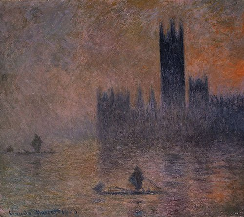 The Houses of Parliament (Effect of Fog) 1903 | Claude Monet | Oil Painting