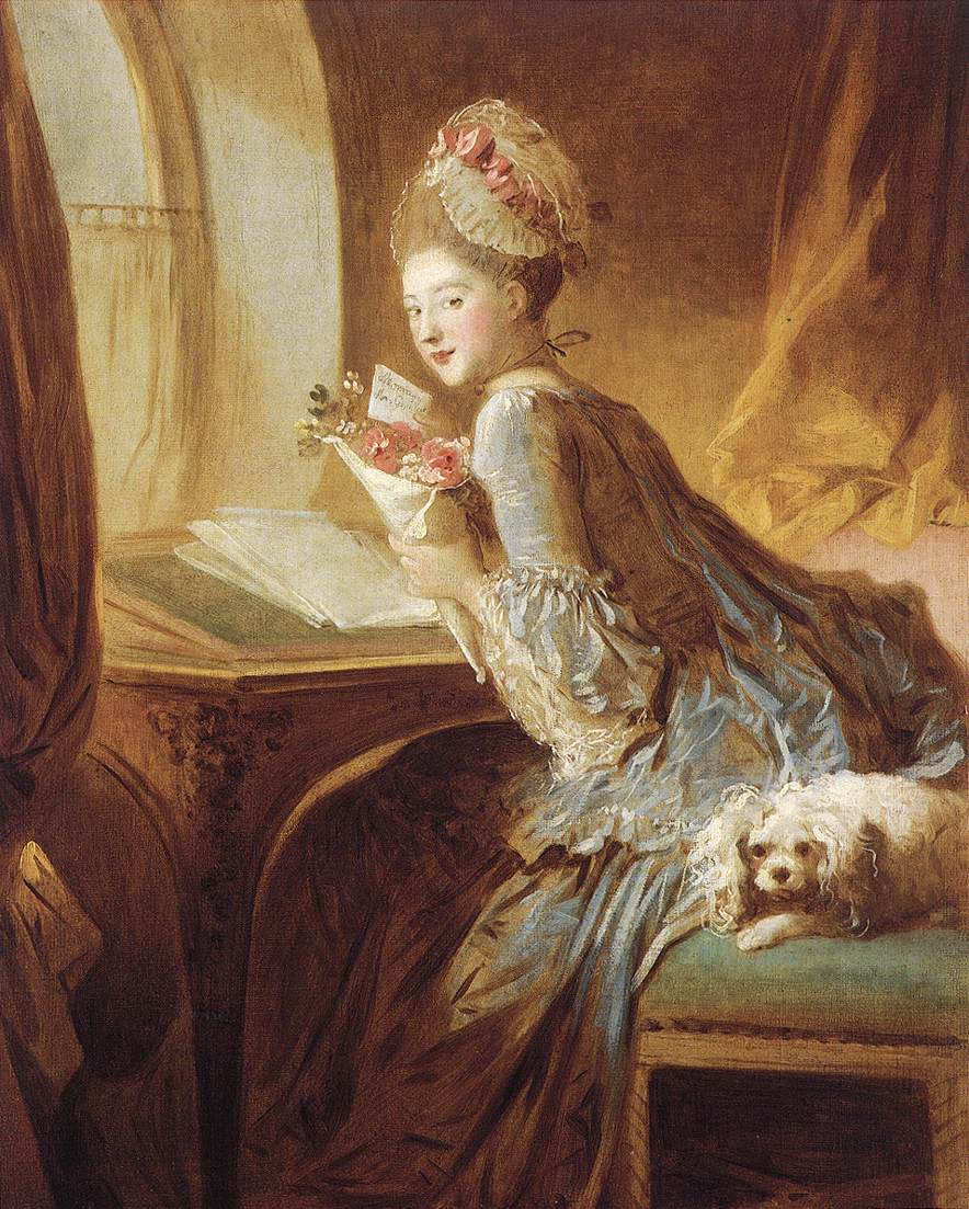 The Love Letter 1770s | Jean Honore Fragonard | Oil Painting