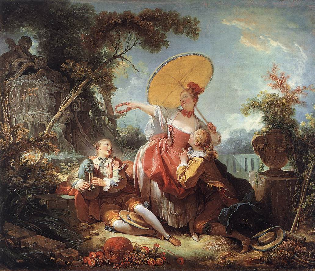 The Musical Contest 1754 | Jean Honore Fragonard | Oil Painting