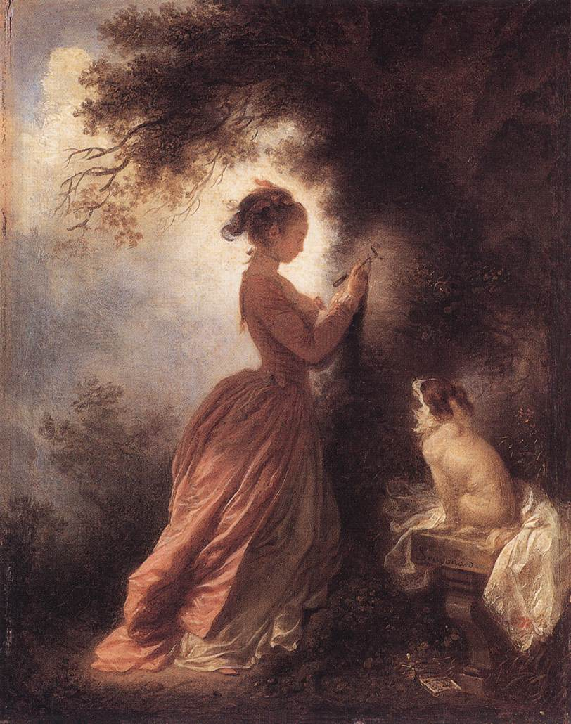 The Souvenir 1775-78 | Jean Honore Fragonard | Oil Painting