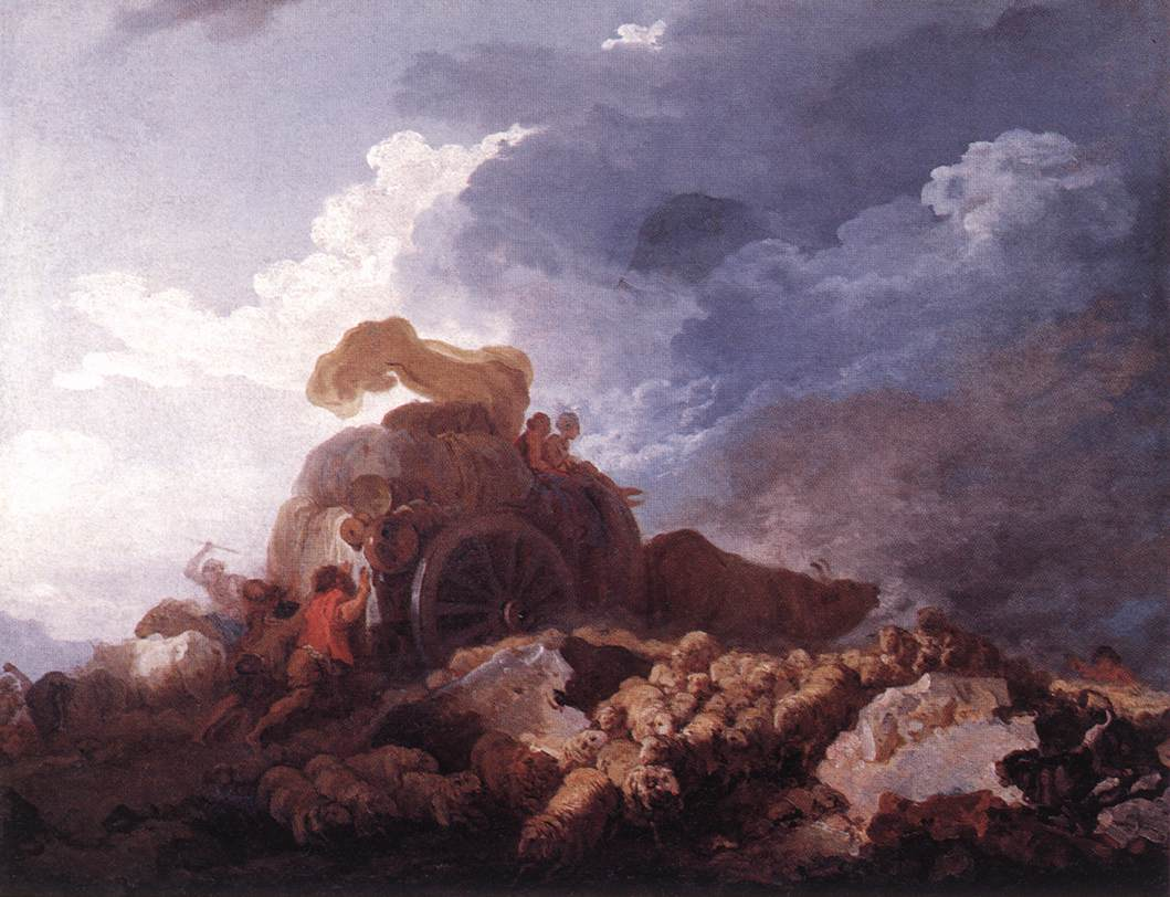 The Storm 1759 | Jean Honore Fragonard | Oil Painting