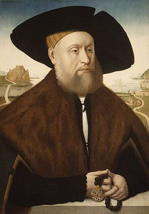 Portrait of a Member of the vom Rhein Family late 1520s | Conrad Faber von Creuznach | Oil Painting
