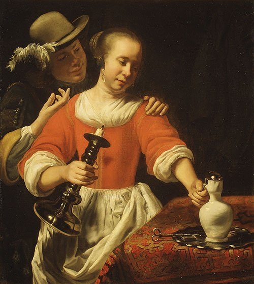 A Young Woman and a Cavalier probably early 1660s | Cornelis Bisschop | Oil Painting