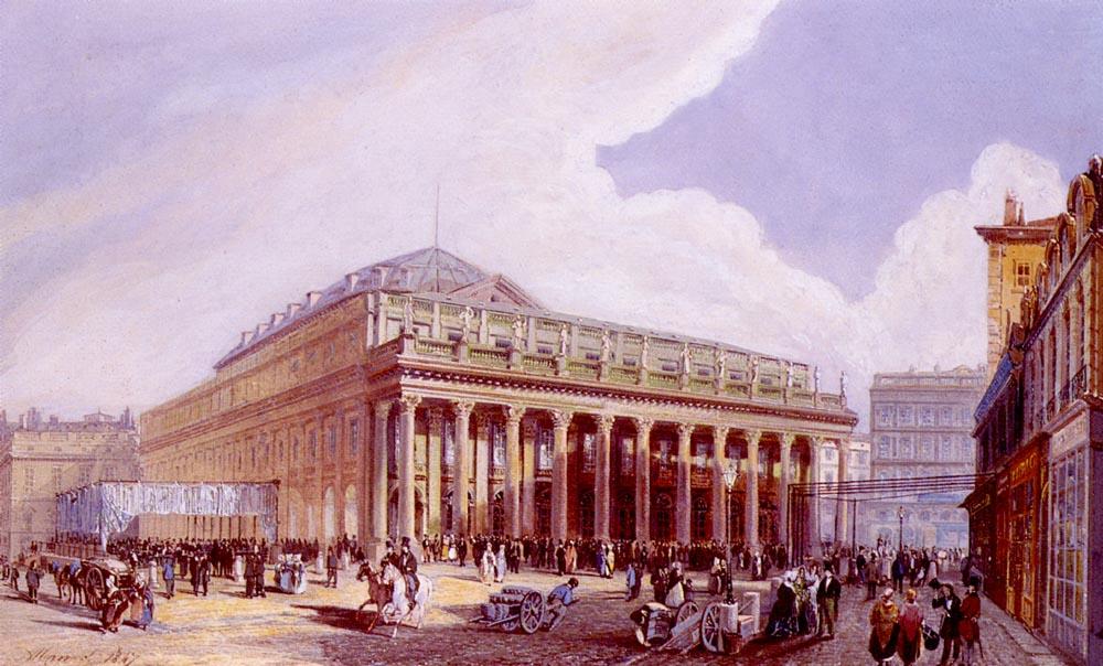 Vue Du Theatre De Victor Louis A Bordeaux | Jean Jacques Alban De Lesgallery | Oil Painting