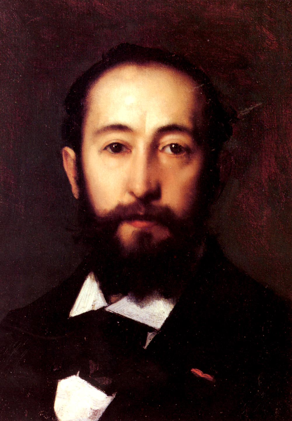 Portrait DHomme | Jean Jacques Henner | Oil Painting
