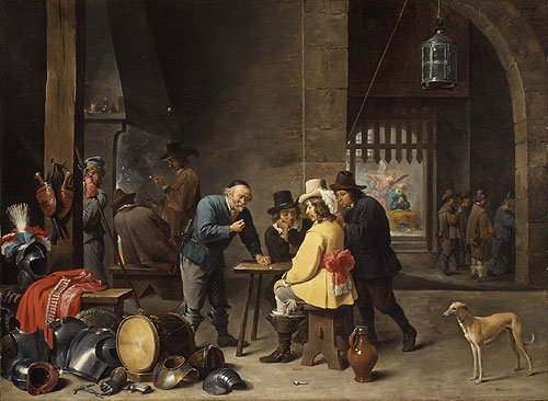 Guardroom with the Deliverance of Saint Peter ca 1645 | David Teniers the Younger | Oil Painting
