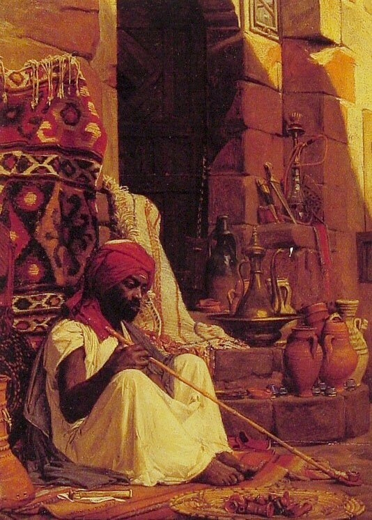 The Opium Smoker | Jean Jules Antoine Lecomte Du Nouy | Oil Painting