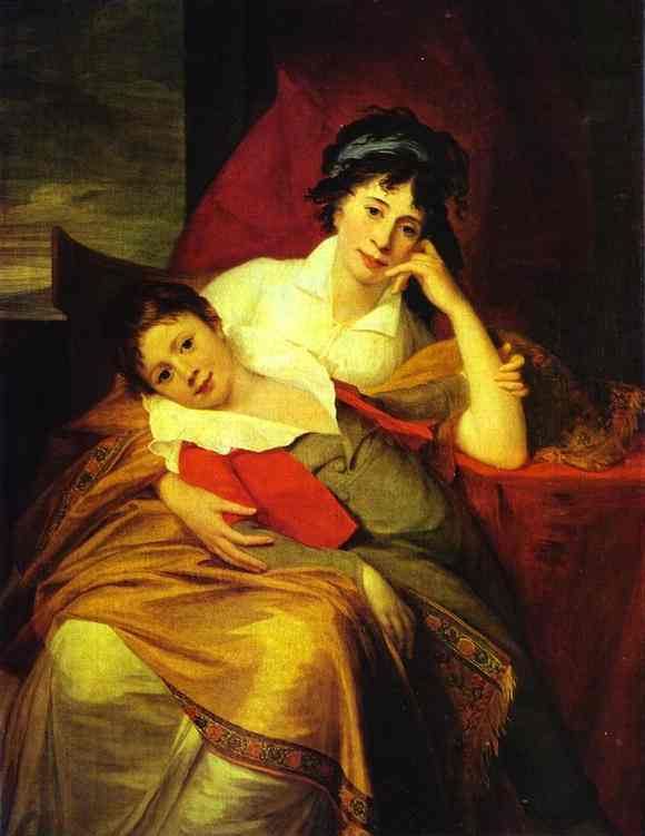 Portrait Of Catherine Muravyova (1771-1848) With Her Son Nikita Muravyov (1796-1866) The Pushkin Museum Of Fine Art Moscow Russia | Jean-Laurent Mosnier | Oil Painting