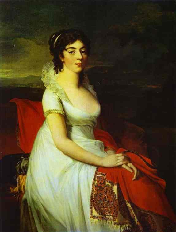 Portrait Of Countess Elisabeth Shakhovskaya The Russian | Jean-Laurent Mosnier | Oil Painting