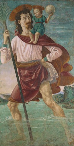 Saint Christopher and the Infant Christ | Domenico Ghirlandaio | Oil Painting
