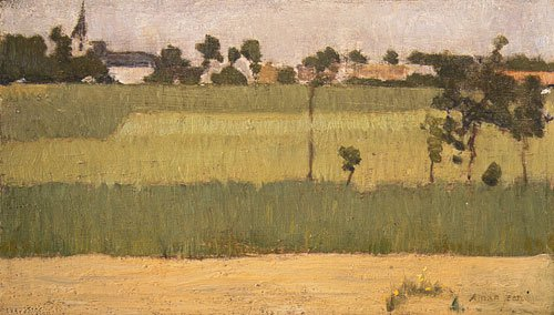 The Outskirts of a Village ca. 1880 | Edmond Francis Aman Jean | Oil Painting