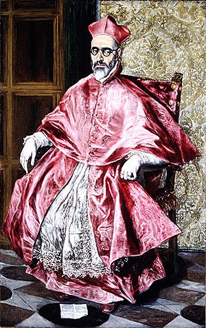 Portrait of a Cardinal Probably Cardinal Don Fernando de Guevara ca 1600 | El Greco | Oil Painting