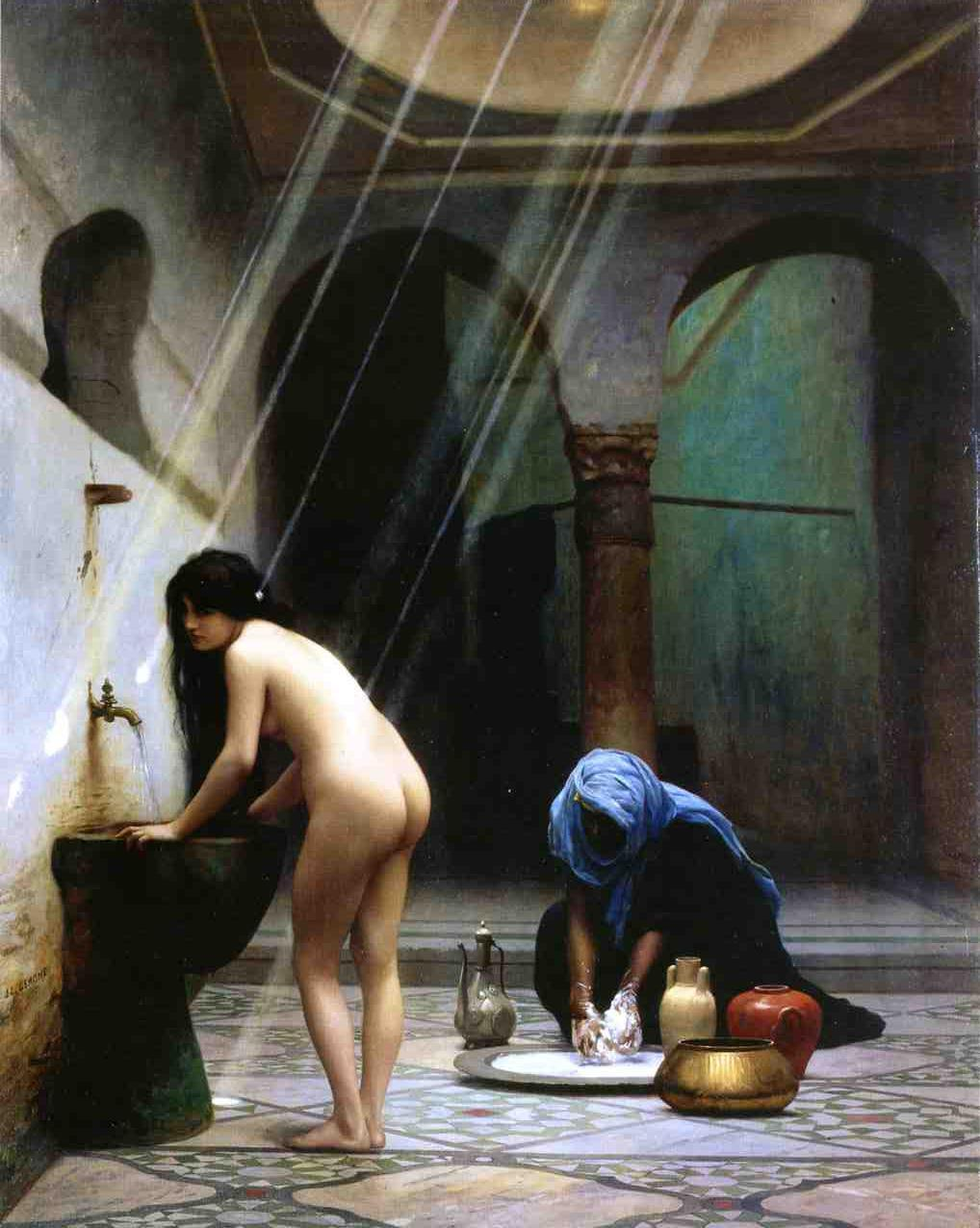 A Moorish Bath aka Turkish Woman Bathing 1870 | Jean Leon Gerome | Oil Painting