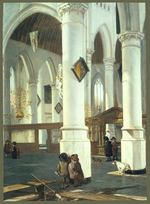 Interior of the Old Church in Delft 1650 | Emanuel de Witte | Oil Painting