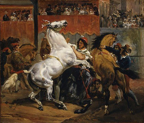 The Start of the Race of the Riderless Horses by 1820 | Emile Jean Horace Vernet | Oil Painting