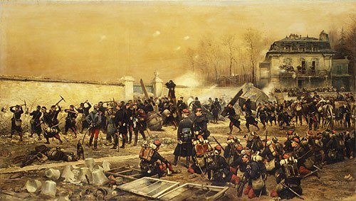 The Defense of Champigny 1879 | Eouard Deaille | Oil Painting