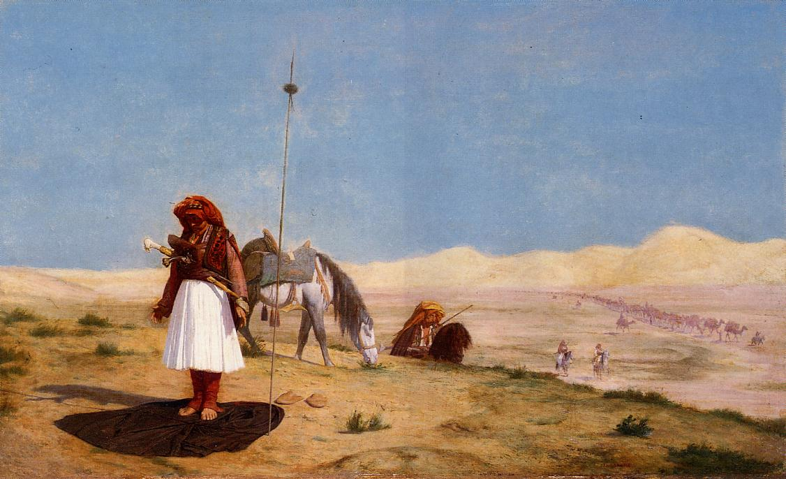 Prayer in the Desert 1864 | Jean Leon Gerome | Oil Painting