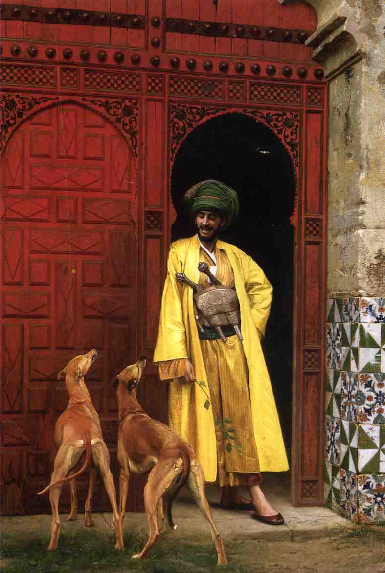 An Arab and His Dogs 1875 | Jean Leon Gerome | Oil Painting