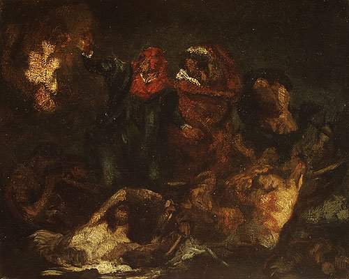 Copy after Delacroix's Bark of Dante ca. 1859 | eouard Manet | Oil Painting