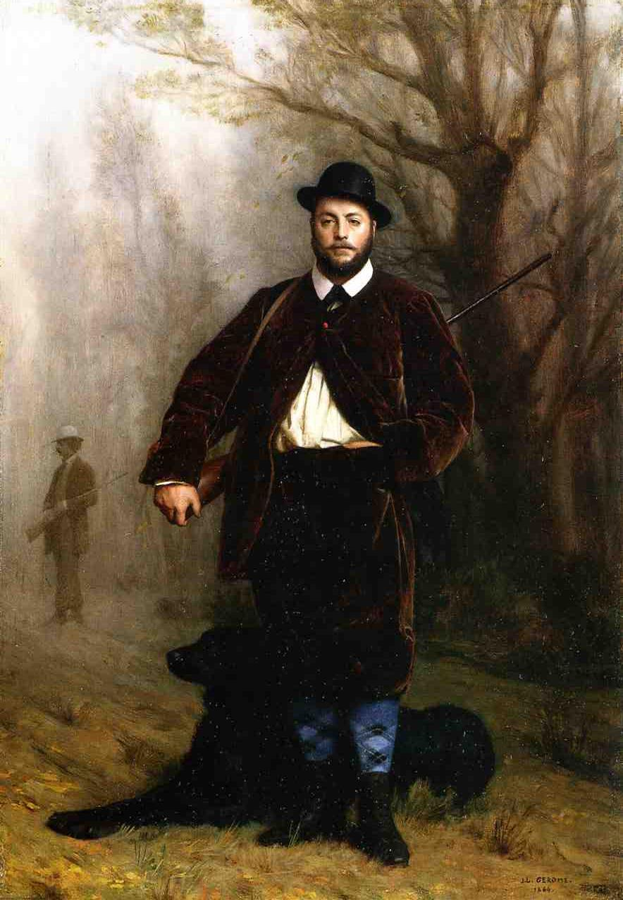 Portrait of M Edouard Delessert 1864 | Jean Leon Gerome | Oil Painting