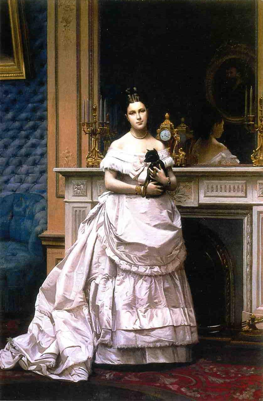 Portrait of a Woman aka Portrait of Marie Gerome 1867 1870 | Jean Leon Gerome | Oil Painting