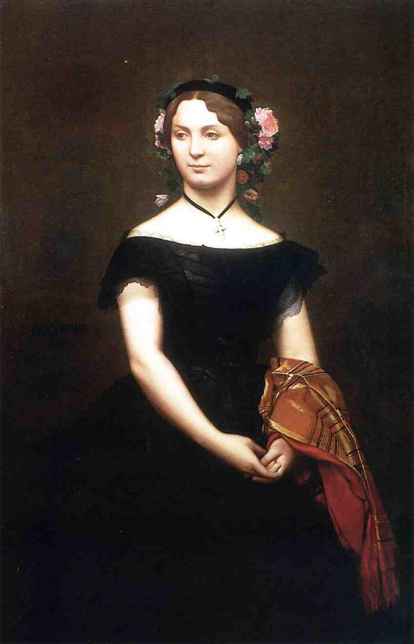 Portrait of Mademoiselle Durand 1853 | Jean Leon Gerome | Oil Painting