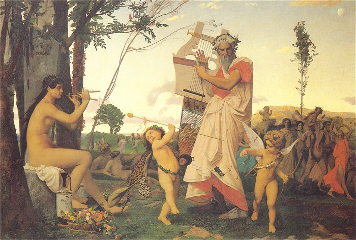 Anacreon Bacchus and Amor 1848 | Jean Leon Gerome | Oil Painting