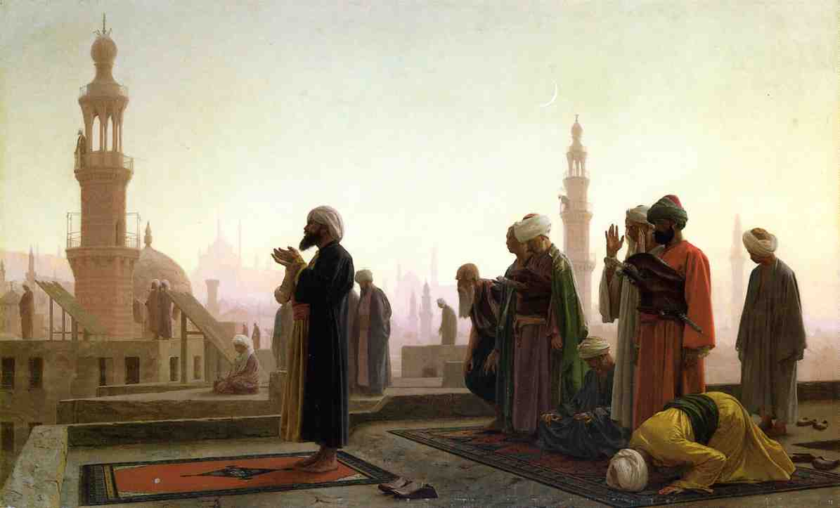 Prayer on the Rooftop in Cairo 1865 | Jean Leon Gerome | Oil Painting