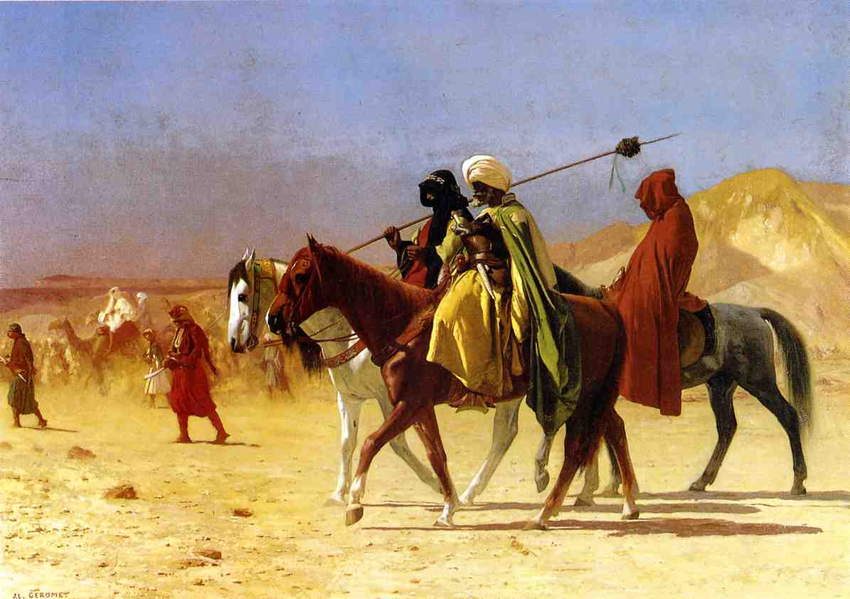 Arabs Crossing the Desert 1870 | Jean Leon Gerome | Oil Painting