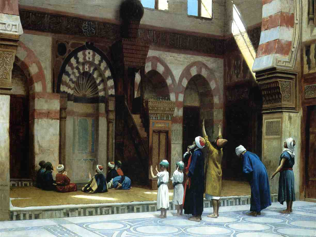 Prayer in the Mosque of Caid Bey in Cairo 1895 | Jean Leon Gerome | Oil Painting