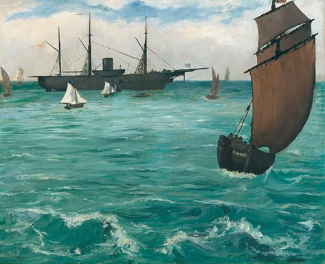 The Kearsarge at Boulogne 1864 | Eouard Manet | Oil Painting