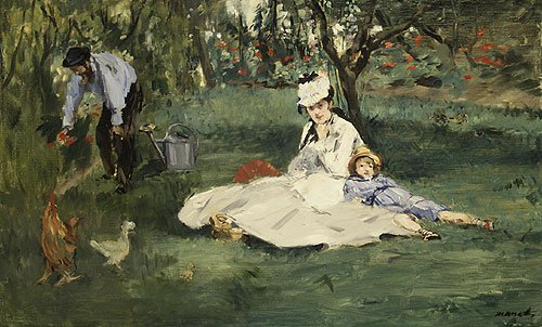 The Monet Family in Their Garden at Argenteuil 1874 | Eouard Manet | Oil Painting