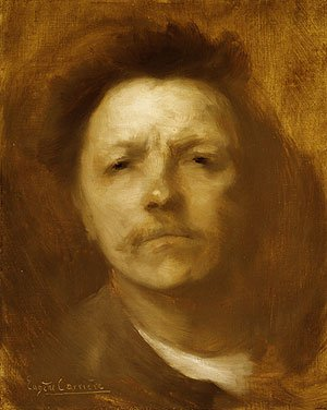 Self portrait ca. 1893 | Eugee Carriere | Oil Painting