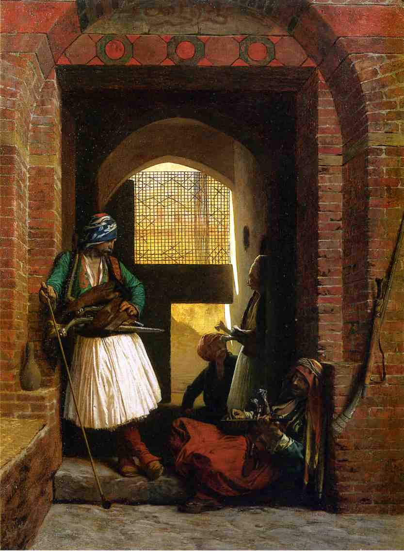 Arnaut Guards in Cairo 1861   Jean Leon Gerome   Oil Painting