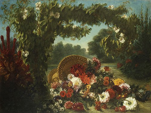 Basket of Flowers 1848 | Eugene Delacroix | Oil Painting